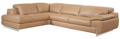 J&M Oregon II Mouton Full Top Grain Leather Italian Sectional Sofa Modern Left