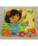 New Dora The Explorer  Washcloth 100% Cotton 2013 Nickelodeon Flower But... - $5.98