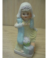 Ceramic Statue Little Girl Playing Dress Up Fig... - $7.95