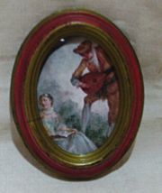 Vintage Cheswick, PA ACTION Oval Miniature Frame - $4.00