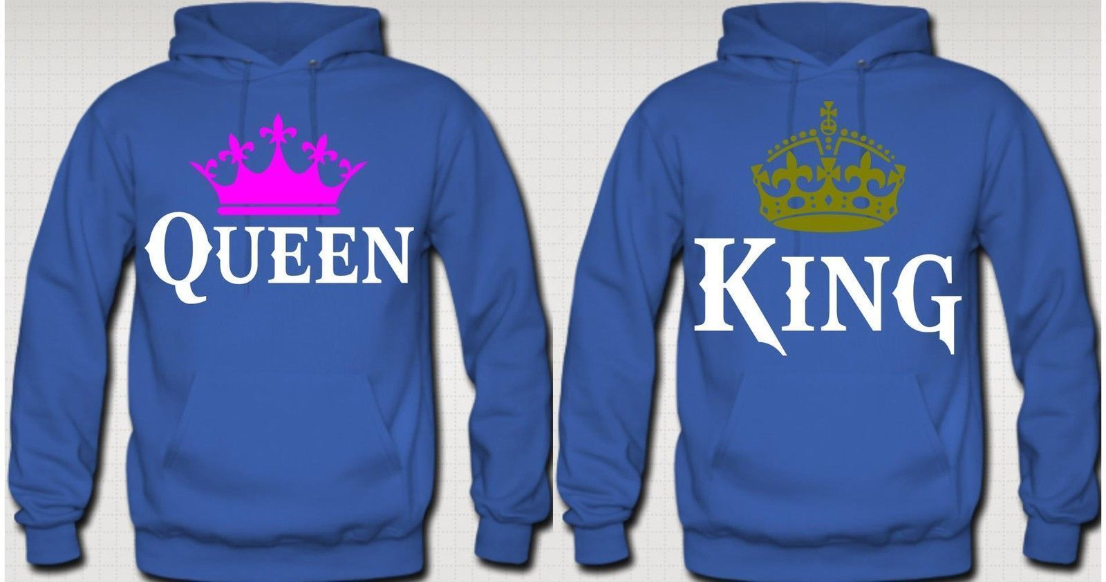 king and queen couple hoodies hats. Black Bedroom Furniture Sets. Home Design Ideas