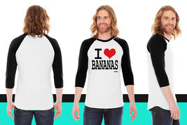 i love bananas by wam American Apparel Unisex 3/4 Sleeve T-Shirt - $29.99+