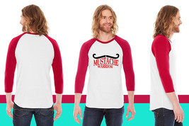 mustache warrior American Apparel Unisex 3/4 Sleeve T-Shirt - $29.99+