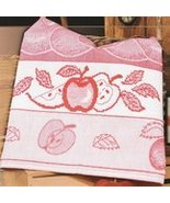 Red Bon Appetit Apples14ct Aida Kitchen Towel 18x27 cotton STS Crafts - $7.38