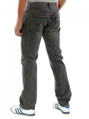 NEW LEVI'S 501 MEN'S ORIGINAL STRAIGHT LEG JEANS BUTTON FLY GRAY 501-6275