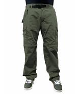 BC Clothing Men's Convertible Cargo Hiking Pants Shorts-Olive - $28.99