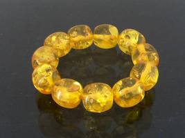 Vintage Jewelry Baltic Amber Beads Bracelet 20.8MM - $125.00