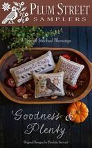 Goodness & Plenty cross stitch chart Plum Street Samplers  - $9.00