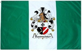 Baummeister Coat of Arms Flag / Family Crest Flag - $29.99