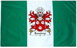 Bawdrep Coat of Arms Flag / Family Crest Flag - $29.99