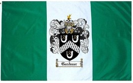 Gardener Coat of Arms Flag / Family Crest Flag - $29.99