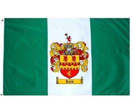 Lees Coat of Arms Flag / Family Crest Flag - $29.99