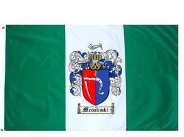 Mrozinski Coat of Arms Flag / Family Crest Flag - $29.99