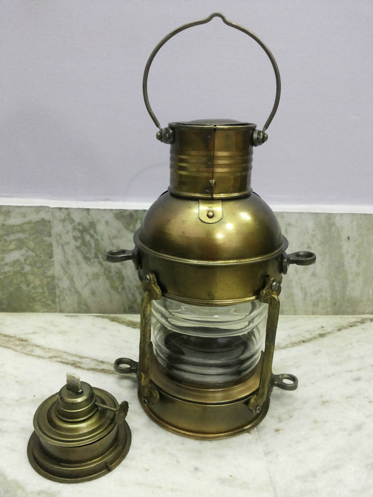 Antique Nautical Brass Ship Oil Lantern Lamp For Home ...