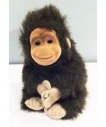 "Hosung Monkey Chimp Brown Plush Vinyl Rubber Face 1994 Cute 9"" Stuffed A... - $12.00"