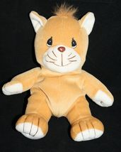 """1998 Precious Moments Tender Tails Sitting Brown Cat Plush No Tag Size 8"""" - $6.00"""