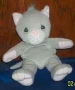 1999 PRECIOUS MOMENTS TENDER TAILS GREY GRAY KITTY CAT KITTEN PLUSH BEAN... - $6.00