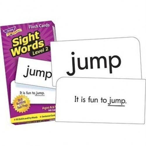 TREND Sight Words Level 2 Flash Cards NEW T53018