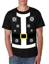 Santa Claus Shirt men's Tee Shirt Ugly Christmas Sweater - $18.00