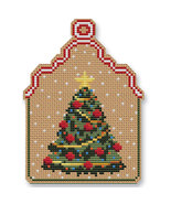 Christmas Tree Ornament Kit cross stitch Colonial Needle  - $13.50