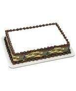 """4"""" Round Green Camo Designer Strips Edible Cake... - €8,04 EUR"""