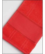 Red Elegance 16ct Fingertip Towel 12x18 100% cotton STS Crafts - $4.50