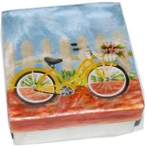 Kubla Crafts Capiz Shell Bicycle w/Flowers Large Trinket Box - $12.99