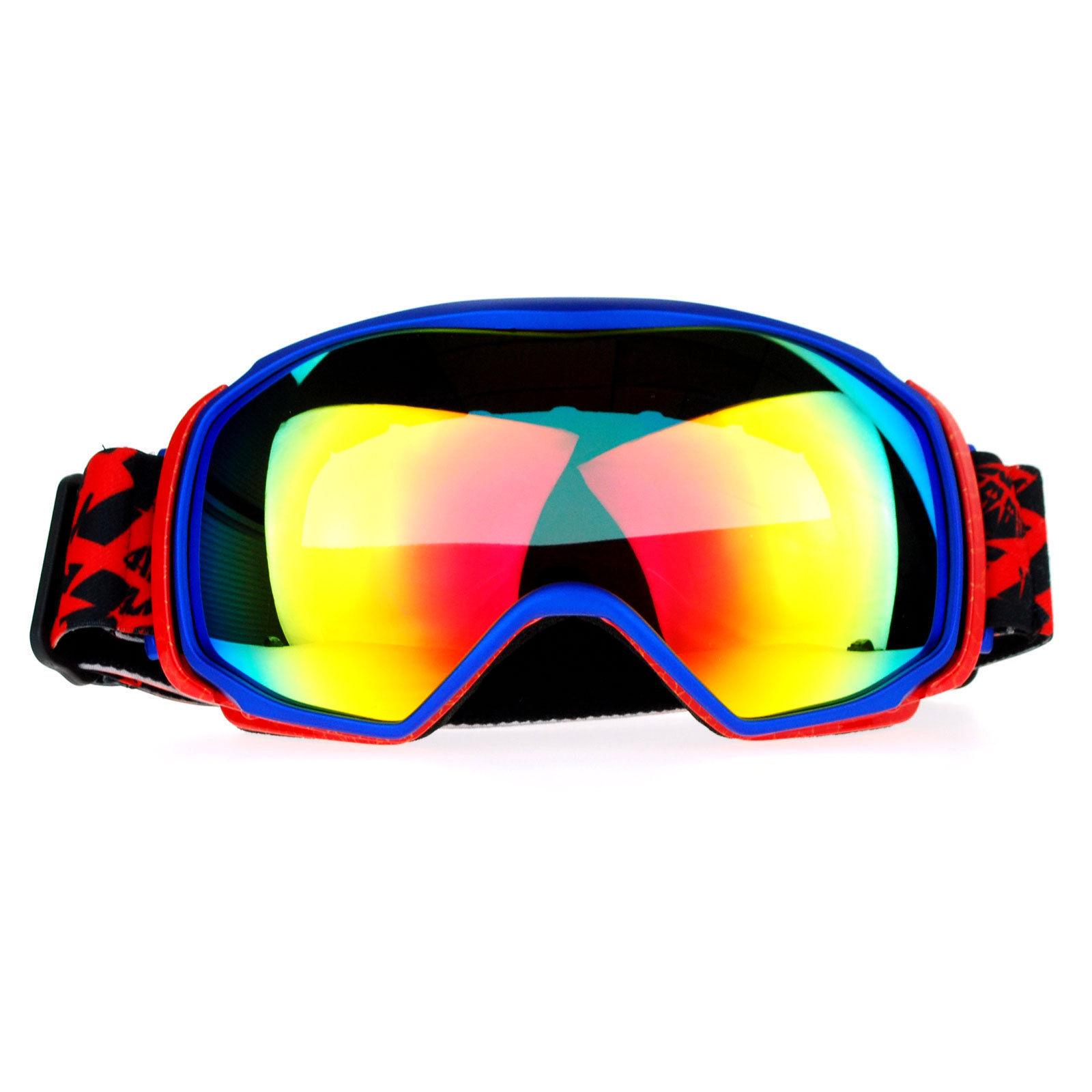 38f67fbb3a7e Snowboard Ski Goggles Sports Goggle Color Mirror Antifog Double Lens