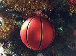 Basketball Hand Painted Glass Ornament [Kitchen] - $39.99