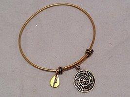 Bella Ryann Gold Fire Department Charm Bangle Bracelet [Jewelry]