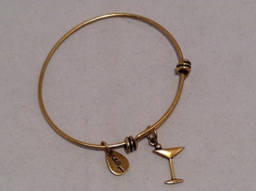Bella Ryann Gold Martini Charm Bangle Bracelet [Jewelry]