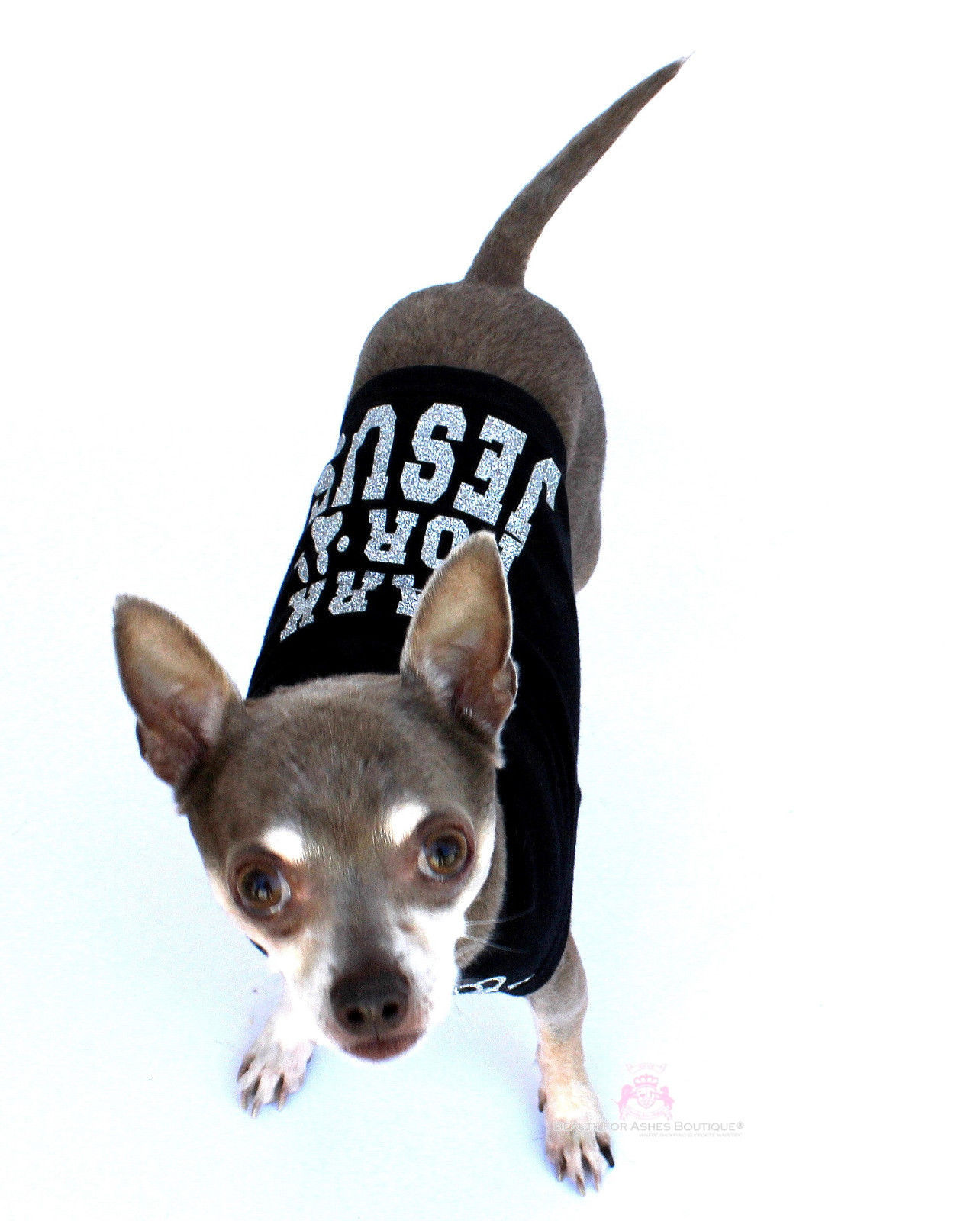 Primary image for Beauty for Ashes® Bark for Jesus Black Silver Dog for Christ Tank Shirt Puppy
