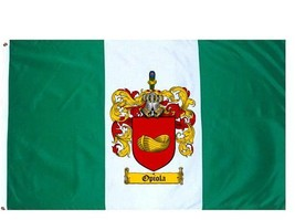 Opiola Coat of Arms Flag / Family Crest Flag - $29.99