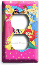 NEW DISNEY PRINCESS AURORA CINDERELLA JUSMIN ELECTRICAL 2 OUTLET COVER W... - $8.99
