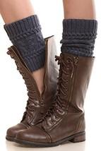 Iconoflash Women's Short Leg Warmer Boot Cuffs, Stormy Grey - $10.88