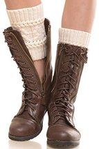 Iconoflash Women's Short Leg Warmer Boot Cuffs, Ivory - $10.88
