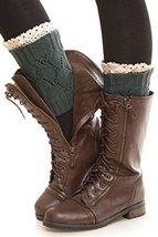 ICONOFLASH Women's Short Leg Warmer Boot Cuffs, Forest Green - $11.87