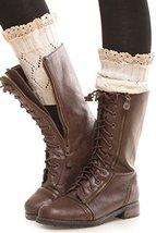 Iconoflash Women's Short Leg Warmer Boot Cuffs, Ivory - $11.87