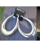 New Large Hoop Earrings with French Locks - Sterling Silver 925 -15g  - $18.00
