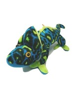 Classis Toy Co Plush Iguana Lizzard Green Blue Black Stuffed Animal - $12.94