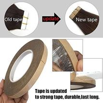 GOO GOO Tape in Hair Extensions Chocolate Brown Silky Straight Real Human Hair E image 3