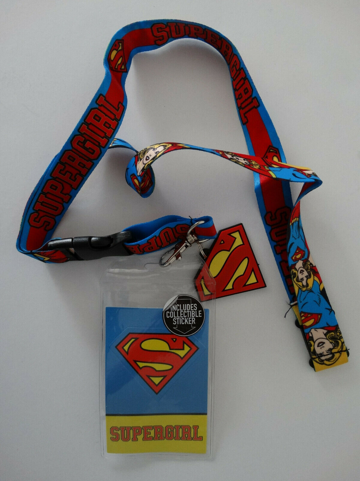 Supergirl Superman Dc Comics ID Badge Holder Keychain Lanyard