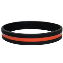 Thin ORANGE Line Silicone Wristband Bracelets Search & Rescue Personnel... - $1.48+