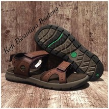 TIMBERLAND MEN'S GOVERNOR ISLAND STRAP Brown SPORT A1QZ4 SANDALS. Size:12 - $51.43