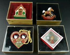 Hallmark Tree Trimmer Collection Lot 4 Christmas Ornaments 1977 1978 1979 1980 - $30.81