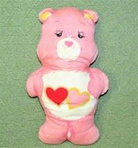 """11"""" Vintage Care Bears LOVE A LOT TEDDY Fabric Material Panel Sewn Stuffed Doll - $17.82"""