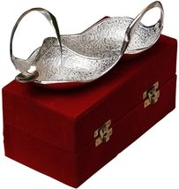 BEST QUALITY SILVER PLATED TWIN SWAN SHAPED BOW... - $40.00
