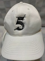 5 Number Five White Black Adjustable Adult Baseball Ball Cap Hat - $10.29
