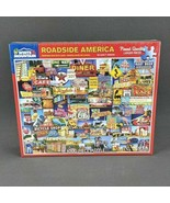 ROADSIDE AMERICA  White Mountain 1000 piece Puzzles  #1114 Lewis Johnson... - $19.30