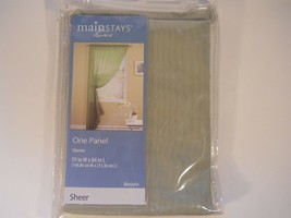 """Mainstays One Lace Panel Curtain Green 59 x 84"""" NEW  Marjorie - $14.84"""